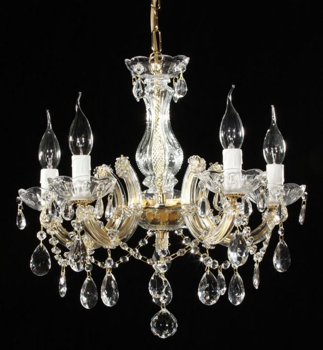 lustre marie th r se 5 feux macerata lustres cristal. Black Bedroom Furniture Sets. Home Design Ideas