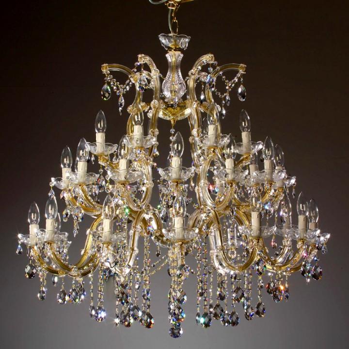 Lustre marie th r se en verre italien 30 feux lizzanello - Produit nettoyage lustre cristal ...