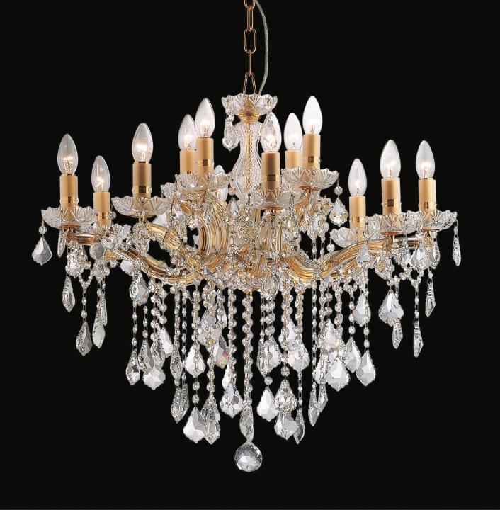 lustre en cristal v ritable style marie th r se 12 feux matera. Black Bedroom Furniture Sets. Home Design Ideas