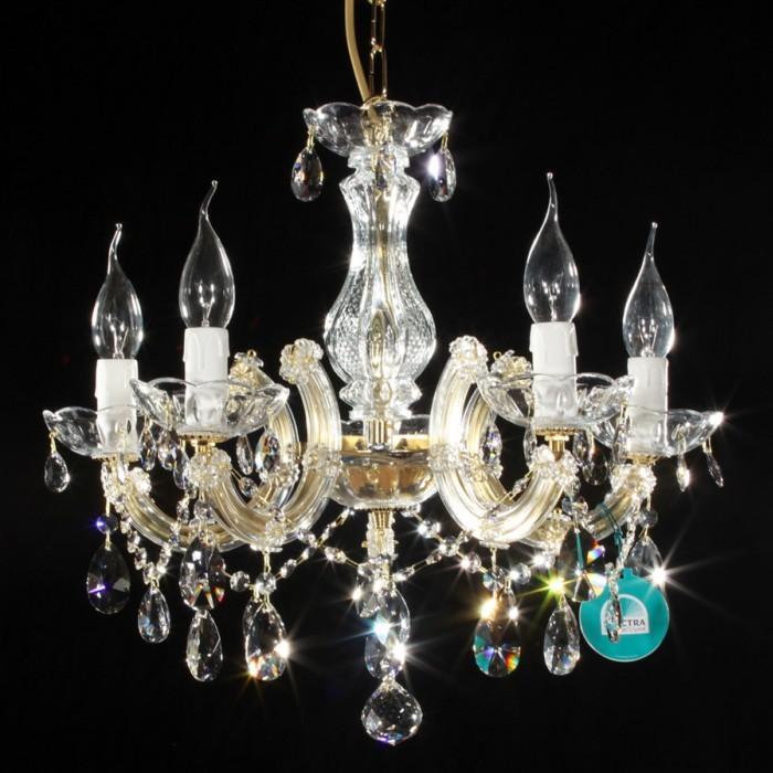lustre marie th r se cristal spectra swarovski 5 feux. Black Bedroom Furniture Sets. Home Design Ideas