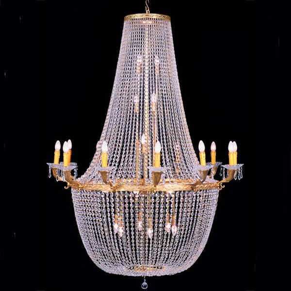 lustre casino style montgolfi re en cristal 130 cm chantilly. Black Bedroom Furniture Sets. Home Design Ideas
