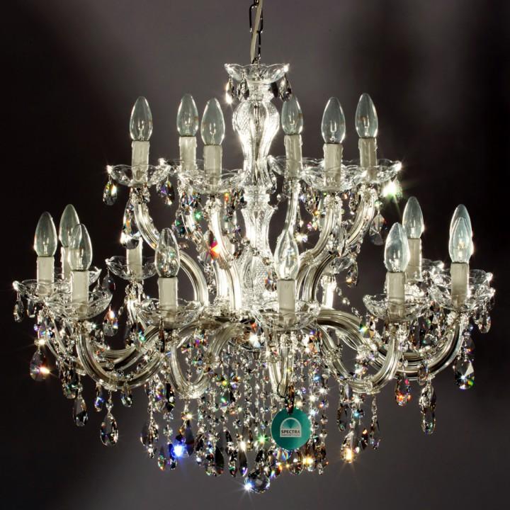 lustre en cristal spectra swarovski 18 feux montazzoli lustres en cristal lustres en cristal. Black Bedroom Furniture Sets. Home Design Ideas