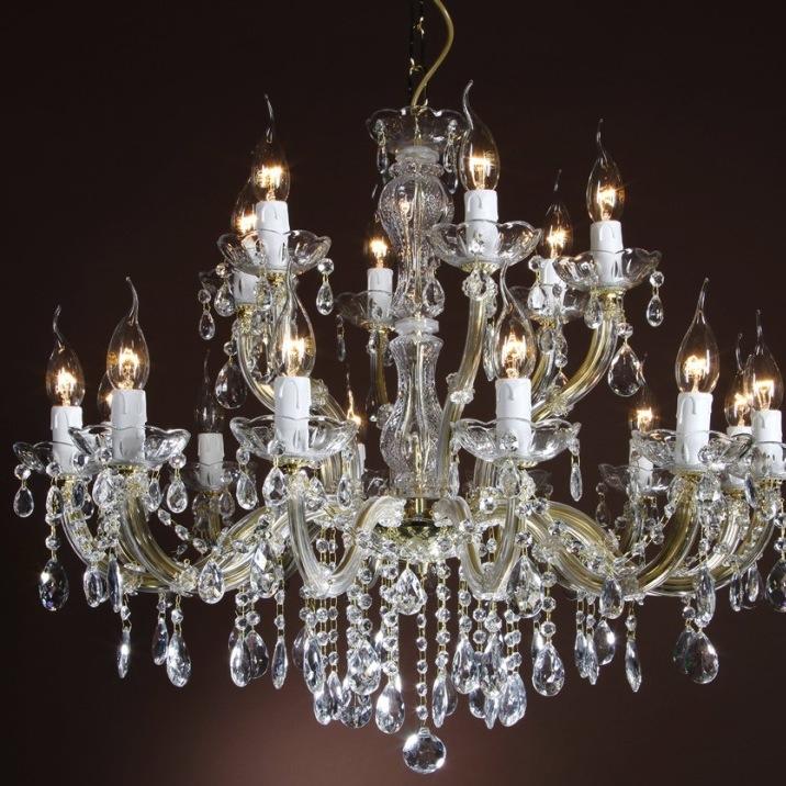 lustre marie th r se en verre italien 18 feux rocca vecchia. Black Bedroom Furniture Sets. Home Design Ideas