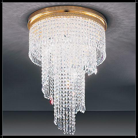 lustre design moderne cascades en cristal voltolina twister. Black Bedroom Furniture Sets. Home Design Ideas
