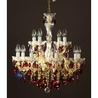 Lustre vénitien en cristal Swarovski ® 12 feux Valsinni