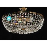 Plafonnier montgolfière 8 feux en cristal Spectra Swarovski® Ø50 cm Padoue