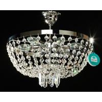 Plafonnier en cristal Spectra Swarovski ® style montgolfière Ø40 cm Catajo