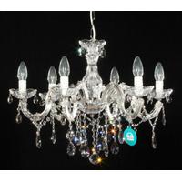 Lustre style vénitien Ø60CM en cristal Spectra® Swarovski® 6 feux Sinello