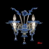 Applique baroque personnalisable en verre de Murano 2 feux Barisciano