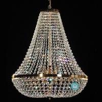 Lustre montgolfière en cristal Spectra Swarovski ® Ø60 cm Copertino