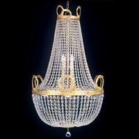 Lustre en cristal style montgolfière Napoléon Ø60 cm Ferrières