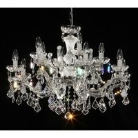 Lustre 12 feux LED en cristal Spectra® Swarovski plaqué or 24 carats Salzbourg