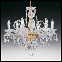 Lustre baroque Marie-Thérèse en cristal au plomb 24% Voltolina Granada