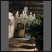 Lustre en cristal au plomb 24% style baroque Marie-Thérère Voltolina Serenade