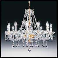 Lustre baroque en cristal au plomb 24% Voltolina Valencia