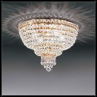 Plafonnier montgolfière en cristal au plomb 24% Voltolina Beethoven
