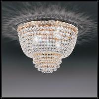 Plafonnier montgolfière style Belle Epoque en cristal au plomb 24% Voltolina Settat