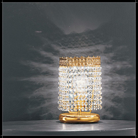 Lampe de table en cristal au plomb 24% Voltolina Mosca