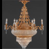 Lustre en cristal style Empire Ø95 cm Magenta