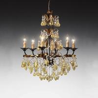 Lustre baroque en verre de Murano 4-6 ou 8 feux Baglioni Oro
