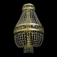 Applique montgolfière WRANOVSKY STOCKHOLM Alpha 5 feux en cristal de Bohême au plomb 30 % ø30cm H50cm