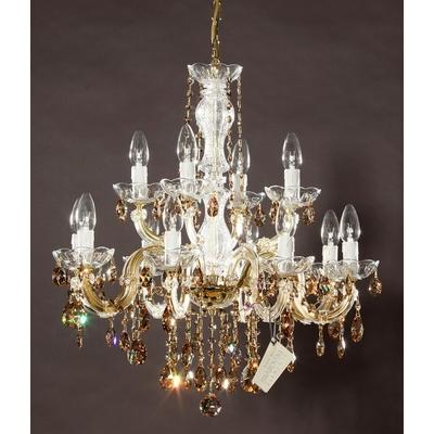 Lustre baroque en cristal Swarovski ® 12 feux Basilio