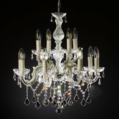 Lustre baroque en cristal Swarovski ® 12 feux Garganico