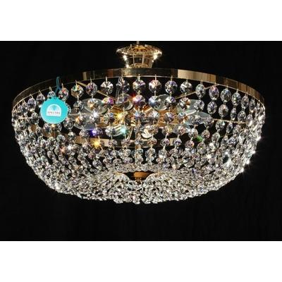 Plafonnier montgolfière 10 feux en cristal Spectra Swarovski® Ø60 cm Trévise