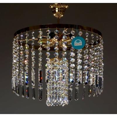 Plafonnier montgolfière en cristal Spectra Swarovski ® Ø40 cm Prato