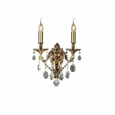 Applique baroque en cristal véritable 2 feux Livourne