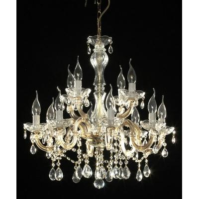 Lustre baroque en verre italien 12 feux Calabro