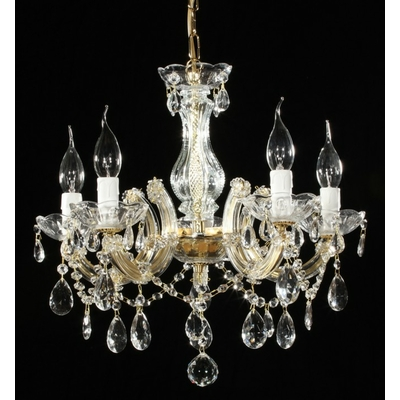 Lustre baroque en verre italien 5 feux Macerata