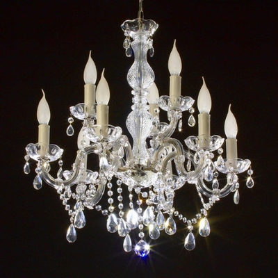 Lustre baroque style Marie-Thérèse en verre italien 9 feux Gallipoli