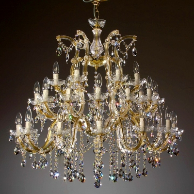 Lustre baroque en verre italien 30 feux Lizzanello