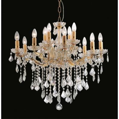 Lustre en cristal style Marie-Thérèse 12 feux Matera