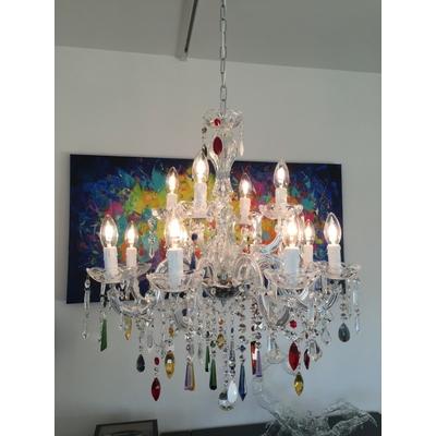Lustre en cristal style baroque 12 feux Melendugno