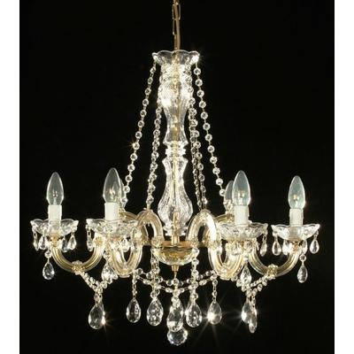 Lustre baroque en verre italien 6 feux Colorno