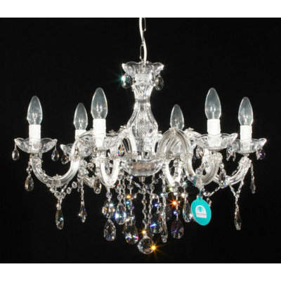 Lustre style baroque Ø60CM en cristal Spectra® Swarovski® 6 feux Sinello