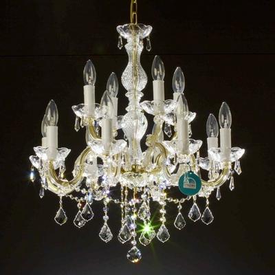 Lustre style baroque en cristal Spectra Swarovski ® 12 feux Calascio