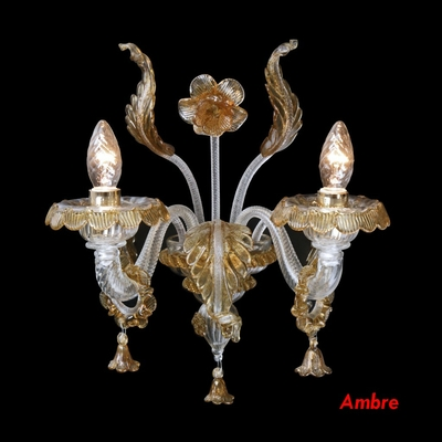 Applique-Murano-ambre