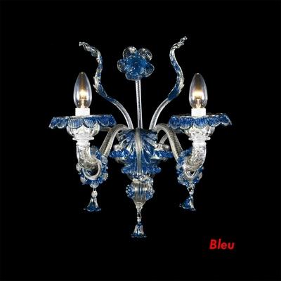 Applique en verre de Murano personnalisable 2 feux Pereto