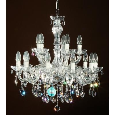 Lustre baroque 15 feux en cristal Spectra Swarovski ® Cantelmo