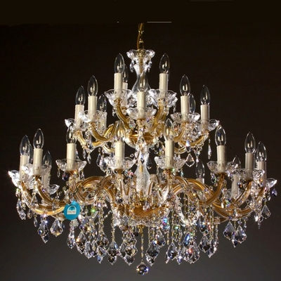 Lustre baroque en cristal Spectra Swarovski ® 28 feux Condofuri