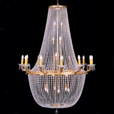 Lustre de casino de style montgolfière en verre Ø130 cm Chantilly