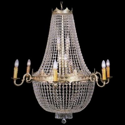 Lustre en cristal style montgolfière Ø96 cm Sully