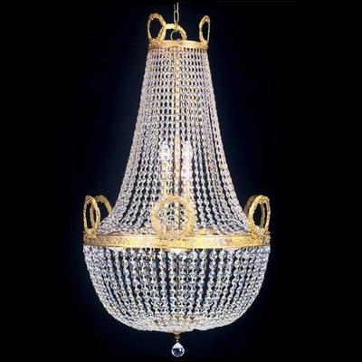 Lustre en verre de style montgolfière Napoléon Ø60 cm Ferrières