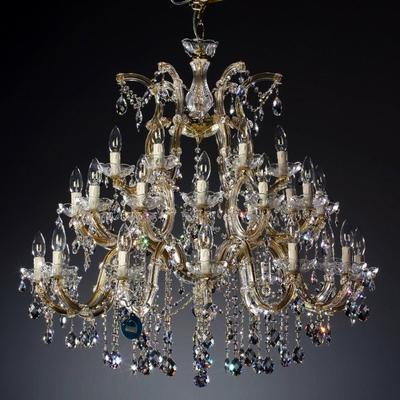 Lustre baroque en cristal Spectra Swarovski ® 30 feux Tramontano