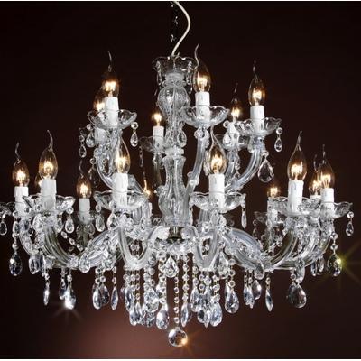 Lustre baroque en verre italien 18 feux Rocca-Vecchia