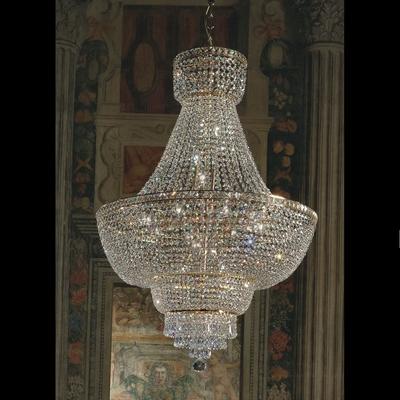 Lustre en cristal au plomb 24% montgolfière Voltolina Beethoven
