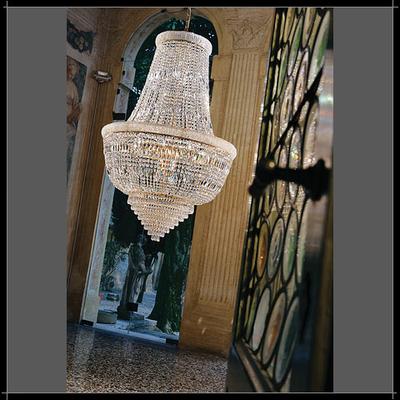 Lustre montgolfière en cristal au plomb 24% Voltolina Osaka Ø35 cm à Ø124 cm